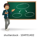 businessman cartoon presenting... | Shutterstock . vector #104951402
