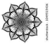 mandalas for coloring book.... | Shutterstock .eps vector #1049515436