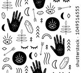 ethnic seamless patterns with... | Shutterstock .eps vector #1049516555