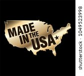 made in usa gold sign  vector  | Shutterstock .eps vector #1049523998