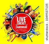 illustration of batsman and... | Shutterstock .eps vector #1049537135
