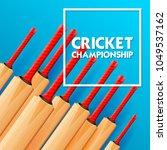illustration of cricket bat on...   Shutterstock .eps vector #1049537162