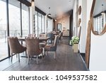 modern and simple cafe interior ... | Shutterstock . vector #1049537582