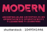 geometric font with shadow... | Shutterstock .eps vector #1049541446