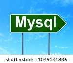 software concept  mysql on...   Shutterstock . vector #1049541836