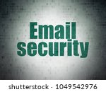 security concept  painted green ...   Shutterstock . vector #1049542976