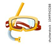 yellow goggles and snorkel... | Shutterstock .eps vector #1049543288