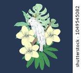 tropical vector illustration... | Shutterstock .eps vector #1049545082