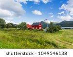 typical scandinavian landscape... | Shutterstock . vector #1049546138