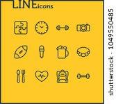 illustration of 12 hobby icons...   Shutterstock . vector #1049550485