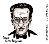 erwin schroedinger watercolor... | Shutterstock .eps vector #1049550788