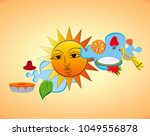 the dawn of the sinhala   tamil ... | Shutterstock .eps vector #1049556878