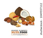 nuts mix cover for badge or nut ... | Shutterstock .eps vector #1049557112