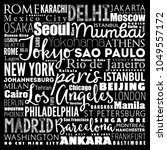 the largest cities in the world ...   Shutterstock .eps vector #1049557172