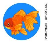 goldfish cartoon set | Shutterstock .eps vector #1049557532