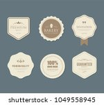 set of vintage labels old... | Shutterstock .eps vector #1049558945