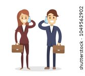 isolated business couple in...   Shutterstock .eps vector #1049562902