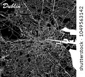 dublin ireland city map black... | Shutterstock .eps vector #1049563142
