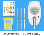 urine analysis tract exam... | Shutterstock .eps vector #1049563862