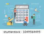 calculating the income or debts ... | Shutterstock .eps vector #1049564495