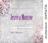 wedding card or invitation with ... | Shutterstock .eps vector #104956736