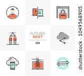 modern flat icons set of... | Shutterstock .eps vector #1049568905