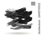 grey brush stroke and texture.... | Shutterstock .eps vector #1049570552