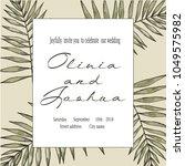 vector vintage card. wedding... | Shutterstock .eps vector #1049575982