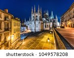 Evening view of the Burgos Cathedral, Burgos, Spain.