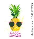 hello summer funny vector... | Shutterstock .eps vector #1049578295