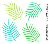 set of colorful summer tropical ... | Shutterstock .eps vector #1049585612
