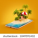 unusual 3d illustration of a... | Shutterstock . vector #1049591432