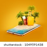 unusual 3d illustration of a... | Shutterstock . vector #1049591438