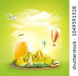 unusual 3d illustration of a... | Shutterstock . vector #1049591528