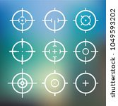 different icon set of targets... | Shutterstock .eps vector #1049593202