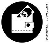 dollar wallet icon. vector...   Shutterstock .eps vector #1049596295