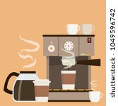 coffee maker set vector. free... | Shutterstock .eps vector #1049596742