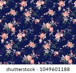 seamless floral design | Shutterstock . vector #1049601188
