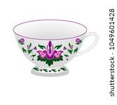 decorative porcelain tea cup...   Shutterstock .eps vector #1049601428