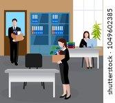 flat design human resources... | Shutterstock .eps vector #1049602385