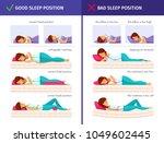 correct sleeping cartoon...   Shutterstock .eps vector #1049602445