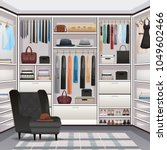 storage room wardrobe cloakroom ...   Shutterstock .eps vector #1049602466
