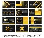 bundle presentation template...   Shutterstock .eps vector #1049605175