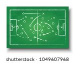 soccer cup formation and tactic ... | Shutterstock .eps vector #1049607968