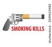 vector illustration of pistol...   Shutterstock .eps vector #1049610482