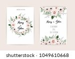 wedding invitation  modern card ... | Shutterstock .eps vector #1049610668