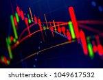 financial data in term of a... | Shutterstock . vector #1049617532