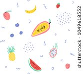 vector tropical fruit... | Shutterstock .eps vector #1049618552