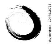 calligraphic black brush stroke ... | Shutterstock .eps vector #1049618735