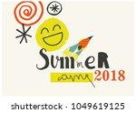 summer camp 2018 for kids... | Shutterstock .eps vector #1049619125